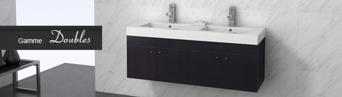 meubles salle de bain doubles