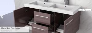 meubles salle de bain marron