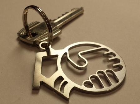 porte-clé inox