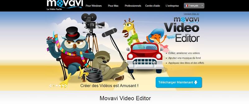 Movavi Video Editor dispose d'un programme d'amélioration de la qualité