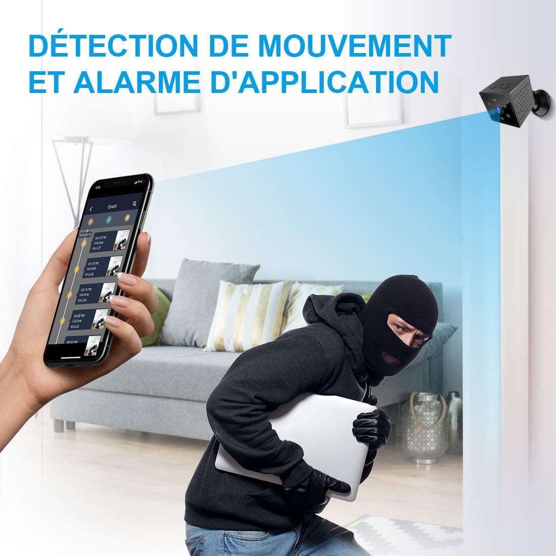 Camera Espion, KEAN 4K HD Mini Camera Surveillance WiFi Interieur